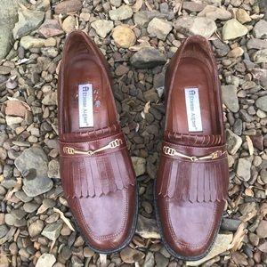 Vintage Etienne Aigner Brown Leather Kiltie Loafer